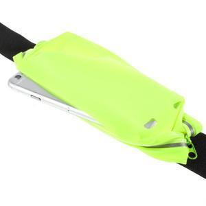 Sportovní kapsička přes pas na mobily do rozměrů 149 x 75 mm - zelené - 5