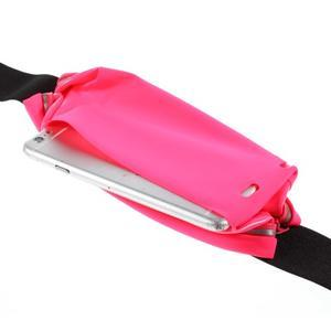 Športové kapsička pres pas na mobily do rozmerov 149 x 75 mm - rose - 5