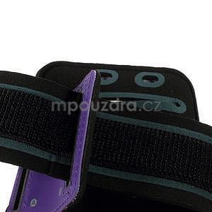 Soft puzdro na mobil vhodné pre telefony do 160 x 85 mm -  fialové - 5