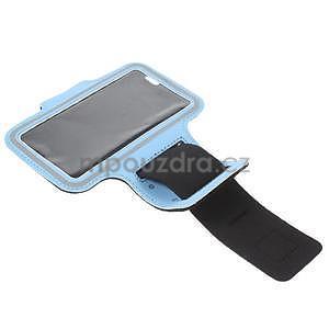 Gymfit športové puzdro pre telefón do 125 x 60 mm - svetlomodré - 5