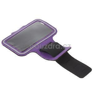 Gymfit športové puzdro pre telefón do 125 x 60 mm - fialové - 5