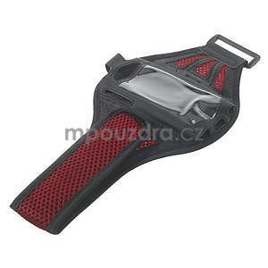Absorb športové puzdro na telefón do veľkosti 125 x 60 mm -  červené - 5
