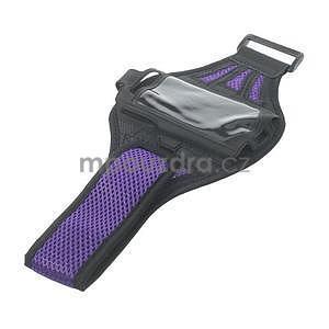 Absorb športové puzdro na telefón do veľkosti 125 x 60 mm -  fialové - 5