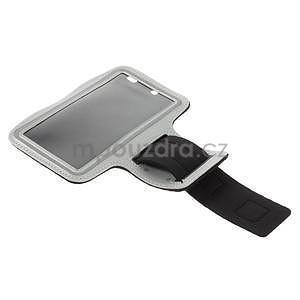 Bežecké puzdro na ruku pre mobil do veľkosti 152 x 80 mm - šedé - 5