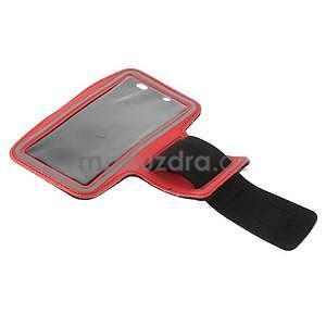 Bežecké puzdro na ruku pre mobil do veľkosti 152 x 80 mm - červené - 5