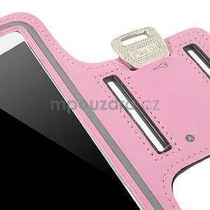 Bežecké puzdro na ruku pre mobil do veľkosti 152 x 80 mm - ružové - 5
