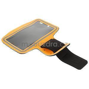 Bežecké puzdro na ruku pre mobil do veľkosti 152 x 80 mm -  oranžové - 5