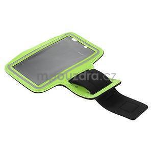 Bežecké puzdro na ruku pre mobil do veľkosti 152 x 80 mm - zelené - 5
