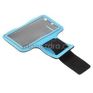 Bežecké puzdro na ruku pre mobil do veľkosti 152 x 80 mm - svetlomodré - 5