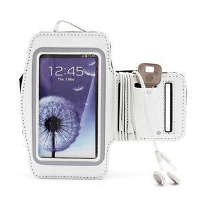 Športové puzdro na ruku až do veľkosti mobilu 140 x 70 mm - biele - 5