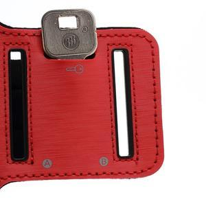 Sportovní pouzdro na ruku až do velikosti mobilu 140 x 70 mm - červené - 5