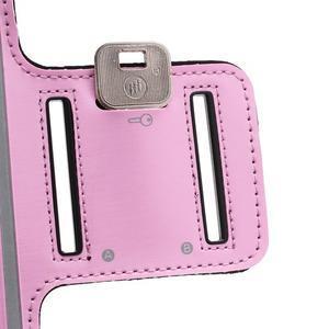 Športové puzdro na ruku až do veľkosti mobilu 140 x 70 mm - ružové - 5