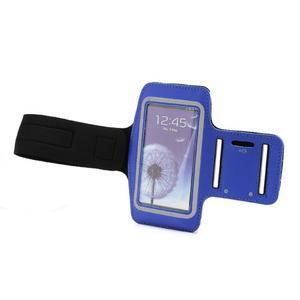Športové puzdro na ruku až do veľkosti mobilu 140 x 70 mm - modré - 5
