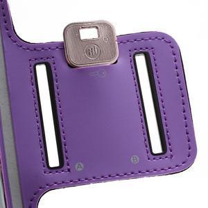 Športové puzdro na ruku až do veľkosti mobilu 140 x 70 mm - fialové - 5