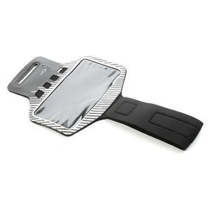 Sports Gym puzdro na ruku pre veľkosť mobilu až 140 x 70 mm - biele - 5