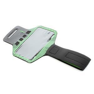 Sports Gym puzdro na ruku pre veľkosť mobilu až 140 x 70 mm -  zelené - 5
