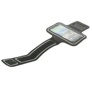 Čierne Sports Gym puzdro na ruku pre veľkosť mobilu až 150 x 70 mm - 5