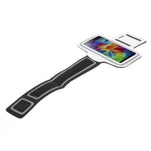 Fitsport puzdro na ruku pre mobil do veľkosti až 145 x 73 mm - biele - 5