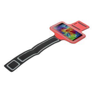 Fitsport puzdro na ruku pre mobil do veľkosti až 145 x 73 mm -  červené - 5