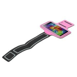Fitsport puzdro na ruku pre mobil do veľkosti až 145 x 73 mm - rose - 5