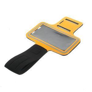 Fitsport puzdro na ruku pre mobil do veľkosti až 145 x 73 mm - oranžové - 5