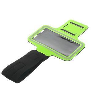 Fitsport puzdro na ruku pre mobil do veľkosti až 145 x 73 mm - zelené - 5