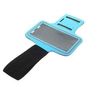 Fitsport puzdro na ruku pre mobil do veľkosti až 145 x 73 mm - svetlomodré - 5