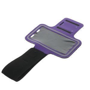 Fitsport puzdro na ruku pre mobil do veľkosti až 145 x 73 mm - fialové - 5
