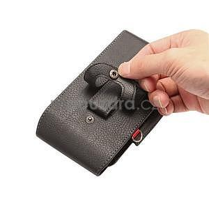 Cloths PU kožené univerzální puzdro do velikosti 155 x 80 x 35 mm - čierné - 5