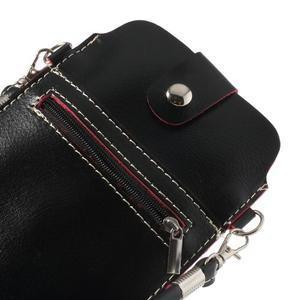 Univerzálne puzdro/kapsička pre mobil do rozmerov 180 x 110 mm - čierne - 5