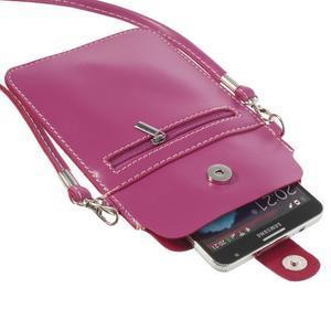 Univerzální pouzdro/kapsička na mobil do rozměru 180 x 110 mm - rose - 5