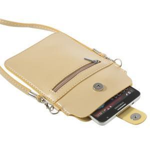 Univerzální pouzdro/kapsička na mobil do rozměru 180 x 110 mm - champagne - 5