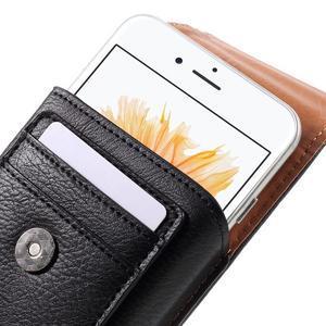 Puzdro pre opasek pre telefony do rozmerov 160 x 84 x 18 mm - čierne - 5
