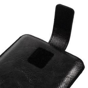 Univerzální flipové pouzdro pro mobily do 150 x 85 mm - černé - 5