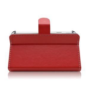 Univerzální peněženkové pouzdro do 159 x 79 mm - červené - 5