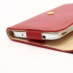 Softy univerzálne puzdro pre mobil do 137 × 71 × 8,6 mm - červené - 5