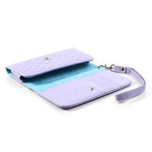 Pux univerzální pouzdro na mobil do rozměrů 139 x 71 mm - fialové - 5