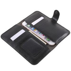 Peňaženkové univerzálne puzdro pre mobil do 140 x 68 x 10 mm - čierne - 5