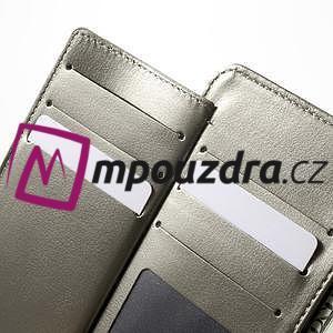 Luxusní univerzální pouzdro pro telefony do 140 x 70 x 12 mm - šedozlaté - 5