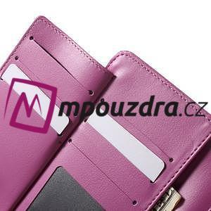 Luxusní univerzální pouzdro pro telefony do 140 x 70 x 12 mm - rose - 5