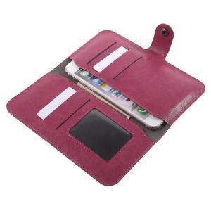 Peňaženkové univerzálne puzdro pre mobil do 140 x 68 x 10 mm - rose - 5