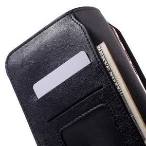 Peňaženkové univerzálne puzdro pre mobil do 140 x 68 x 10 mm - tmavomodré - 5