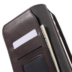 Peňaženkové univerzálne puzdro pre mobil do 140 x 68 x 10 mm - tmavohnedé - 5