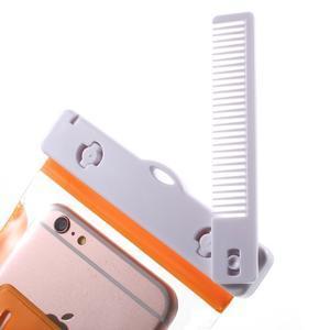 Nox7 vodotesný obal pre mobil do rozmerov 16.5 x 9.5 cm - oranžový - 5