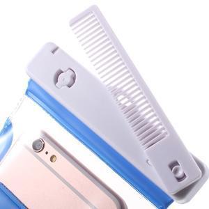 Nox7 vodotesný obal pre mobil do rozmerov 16.5 x 9.5 cm - modrý - 5