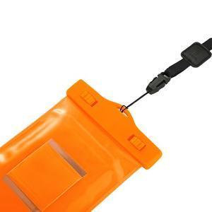 Base IPX8 vodotesný obal pre mobil do 158 x 78 mm - oranžový - 5