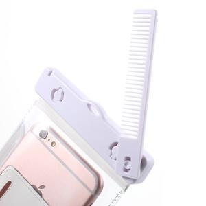 Nox7 vodotesný obal pre mobil do rozmerov 16.5 x 9.5 cm - biely - 5