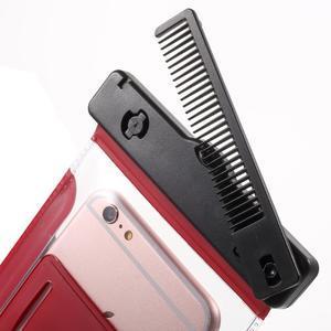 Nox7 vodotesný obal pre mobil do rozmerov 16.5 x 9.5 cm - červený - 5
