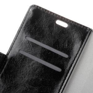 Horse PU kožené puzdro pre mobil Lenovo K5 Note - čierné - 6