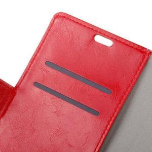 Horse PU kožené puzdro pre mobil Lenovo K5 Note - červené - 6